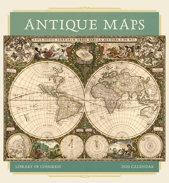 Antiques Map 2020 Wall Calendar