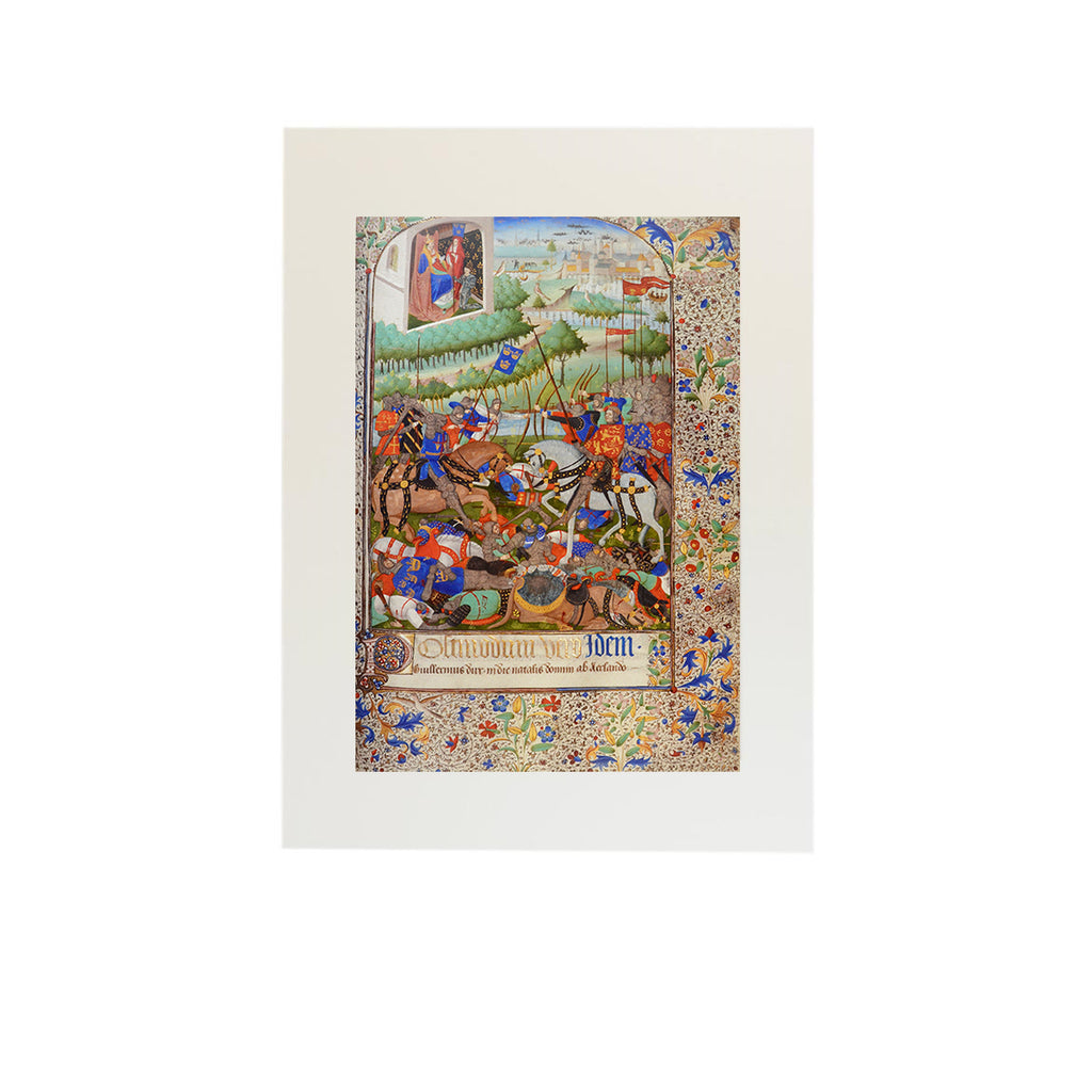 Battle of Hastings Mounted Print
