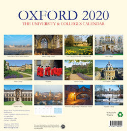 Oxford the University & Colleges Large Calendar - 2020