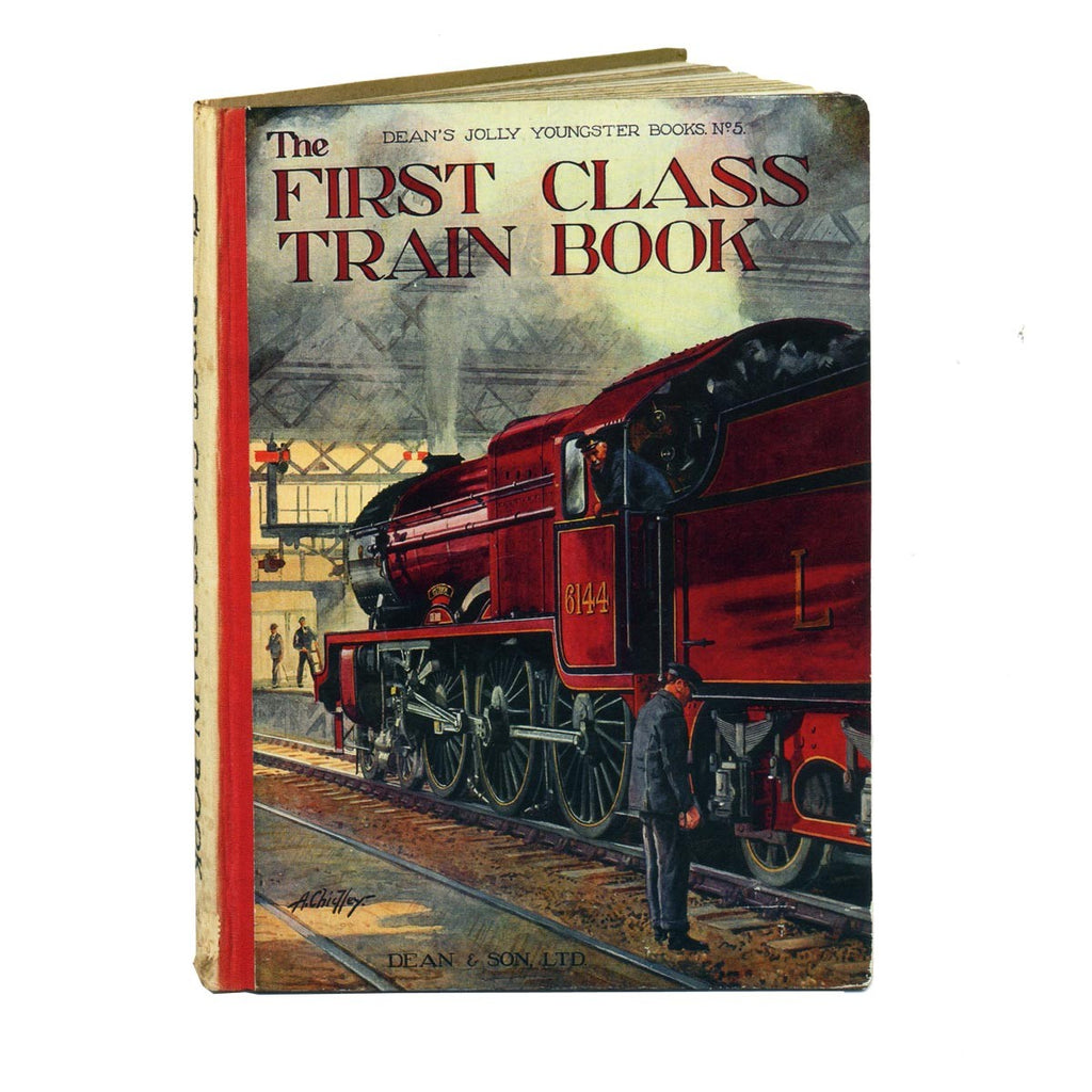 The First Class Train Book Greetings Card