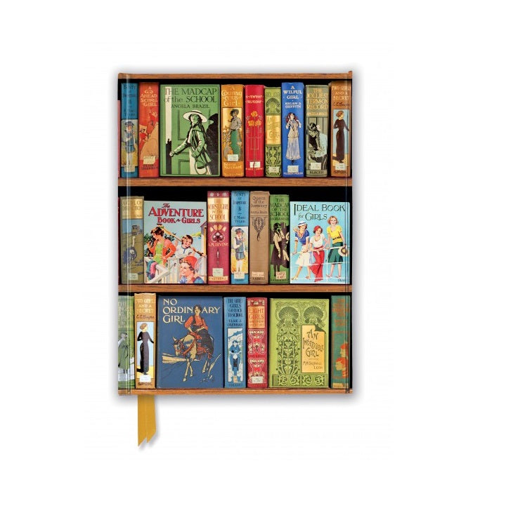 'Girls Adventures' Bookshelves A5 Foil Notebook