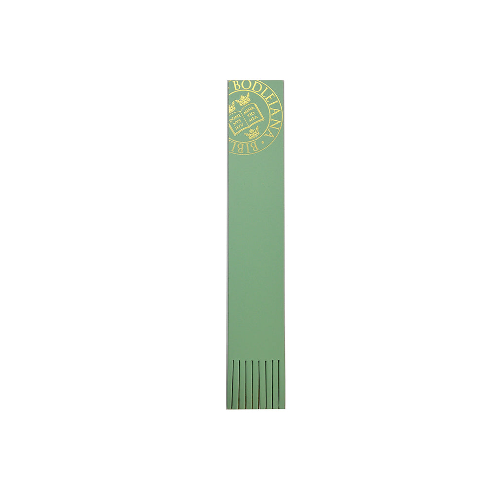 Library Stamp Leather Bookmark - assorted colours