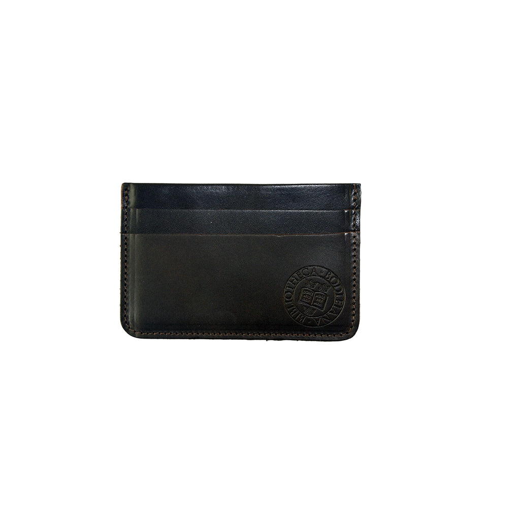 Library Stamp Leather Credit Card Holder