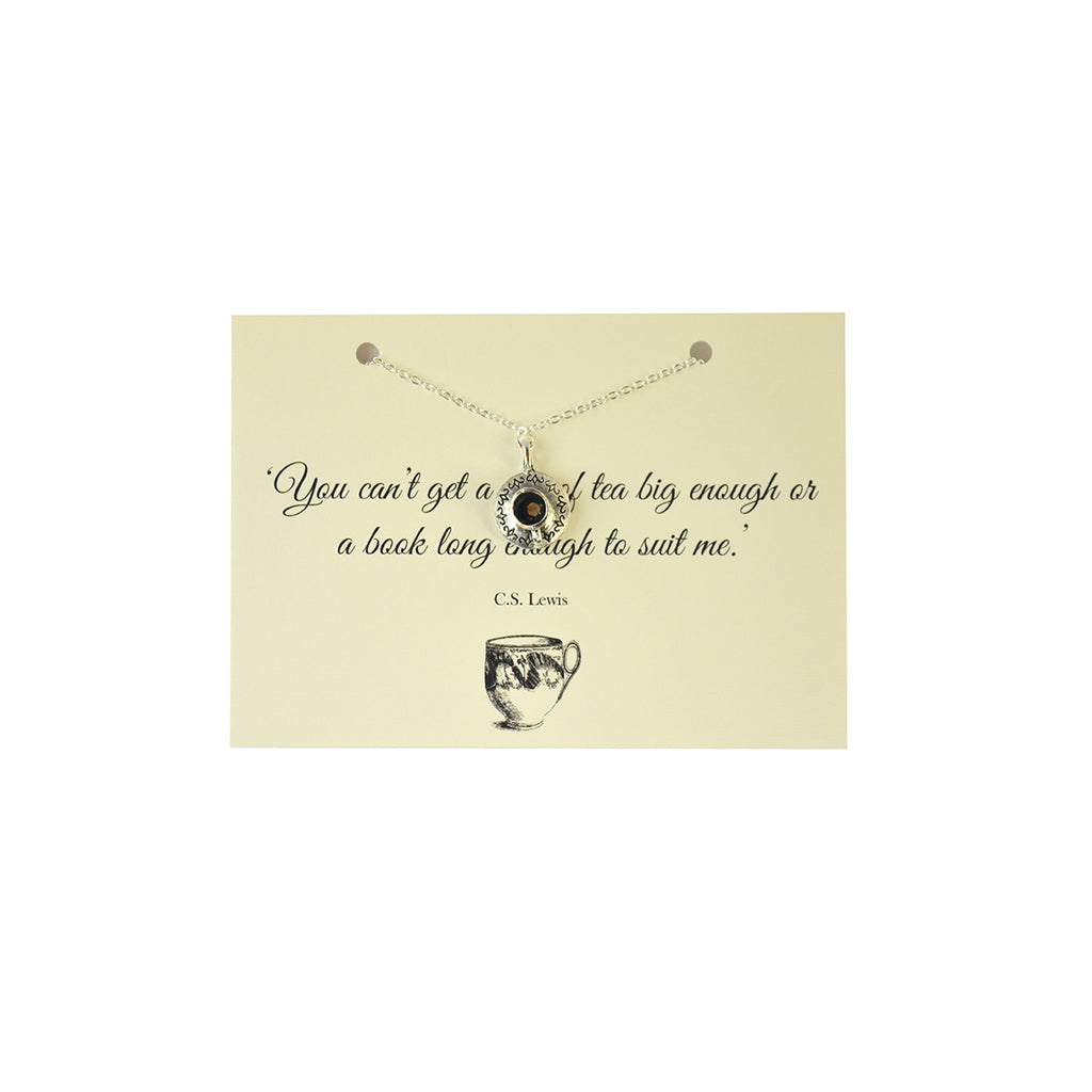 CS Lewis Teacup Necklace