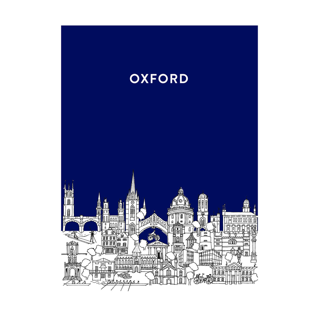 Oxford Sketch Tea Towel