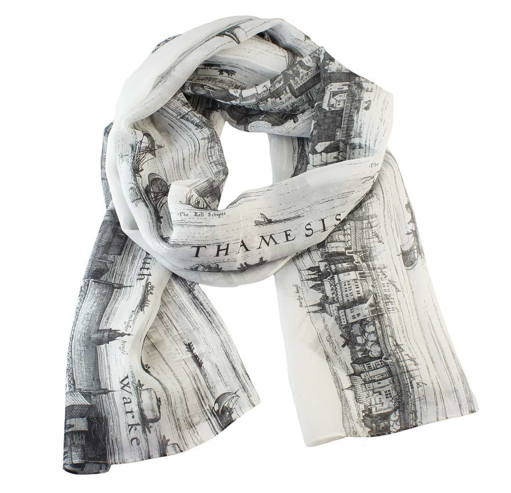 Panorama of London Silk Scarf