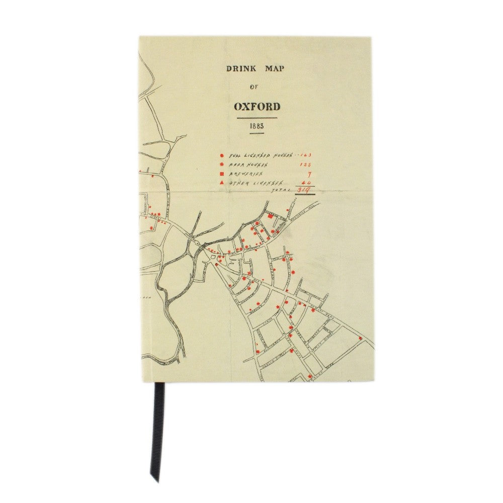 Drink Map of Oxford A5 Notebook