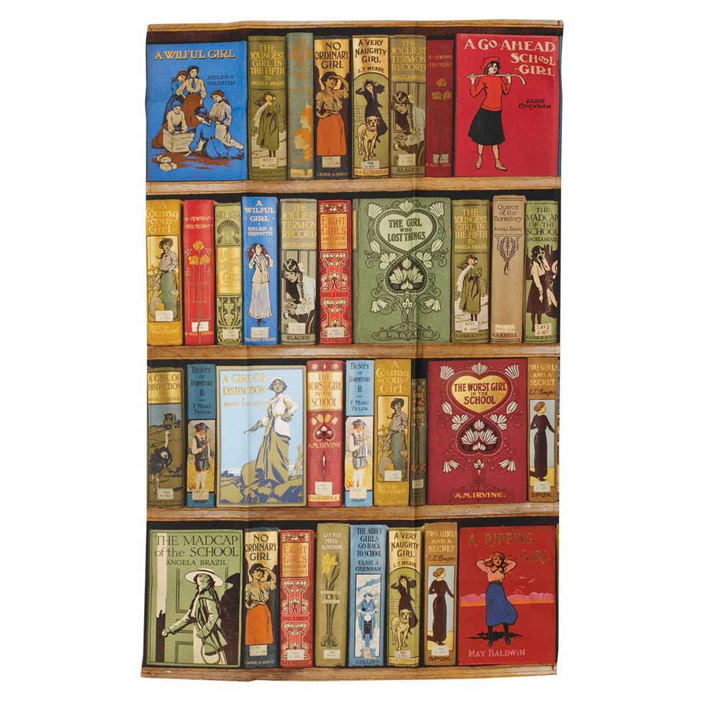 'High Jinks' Bookshelves Tea Towel