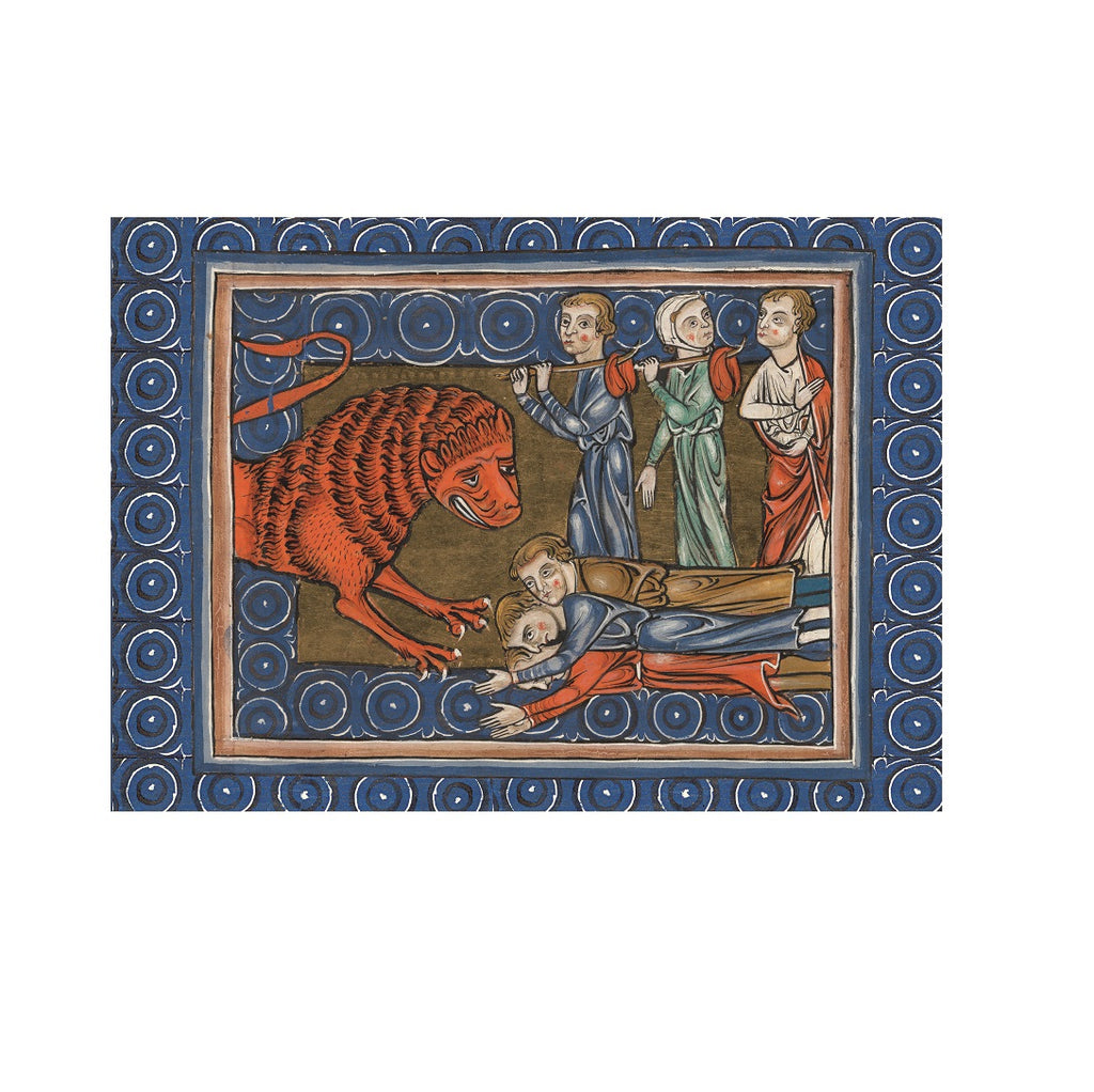 The Merciful Lion Greetings Card