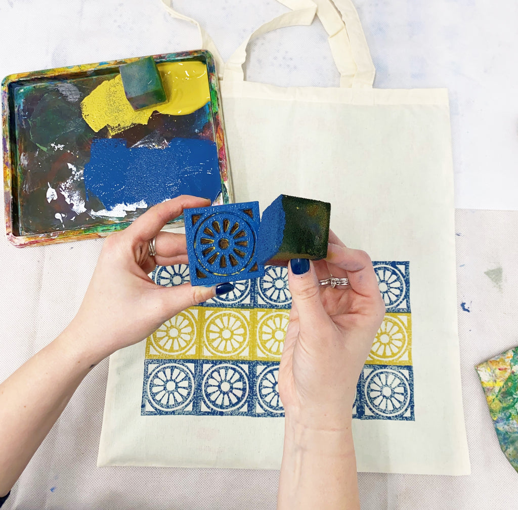 Tote Bag Block Printing Kit