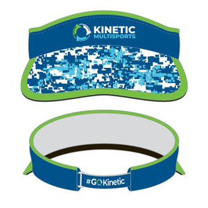 Kinetic Series Visor Camo Blue