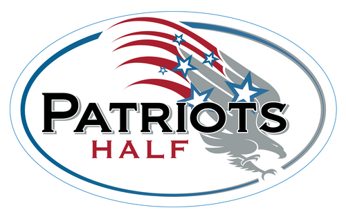Patriots Half Sticker