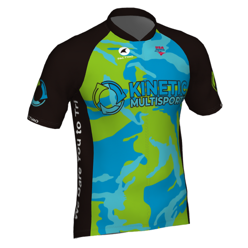 Kinetic Multisports Cycling Jersey Camo Design