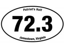 Patriot's 72.3 Sticker