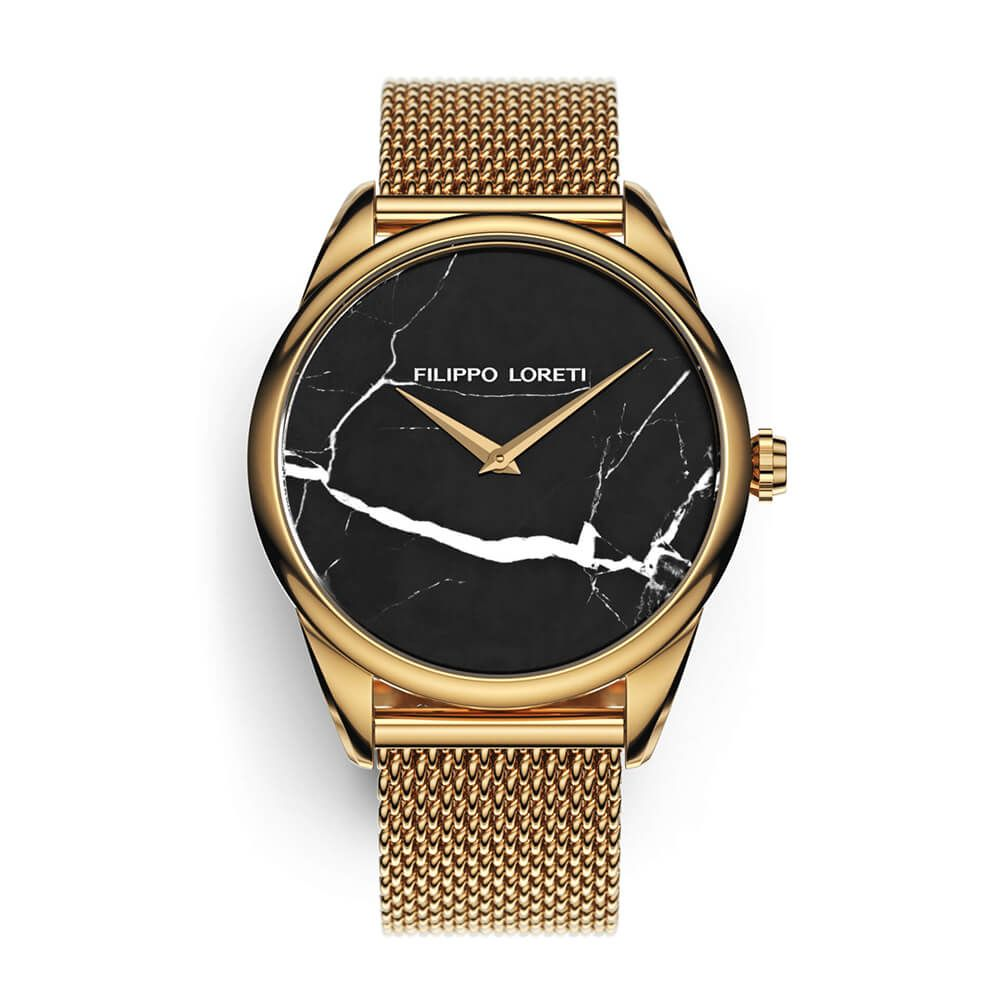 Marble Gold Mesh Women's Watch from Filippo Loreti
