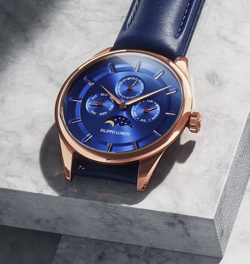 Filippo Loreti Moonphase Gold Blue