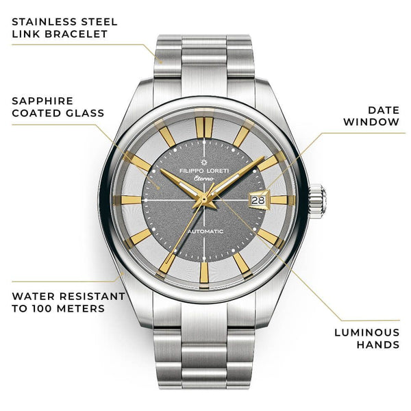 Eterno Gilded Ash Link Automatic Watch