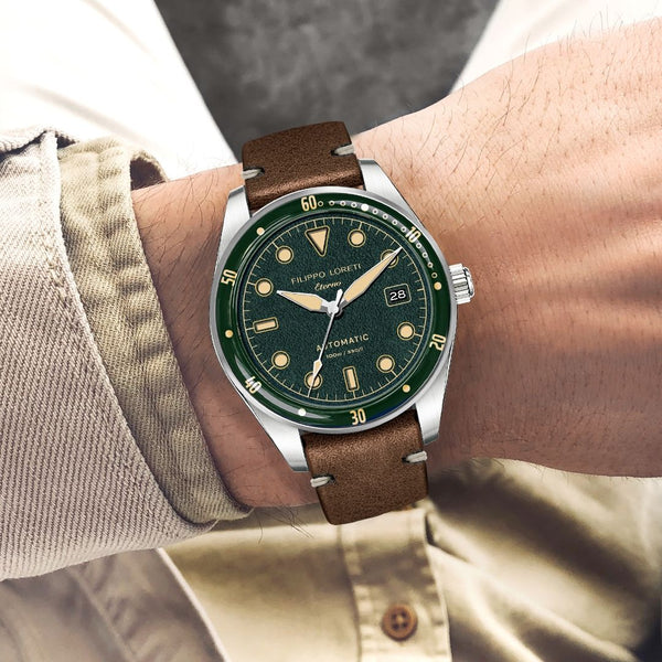 Eterno Green Diver Italian Style Watch