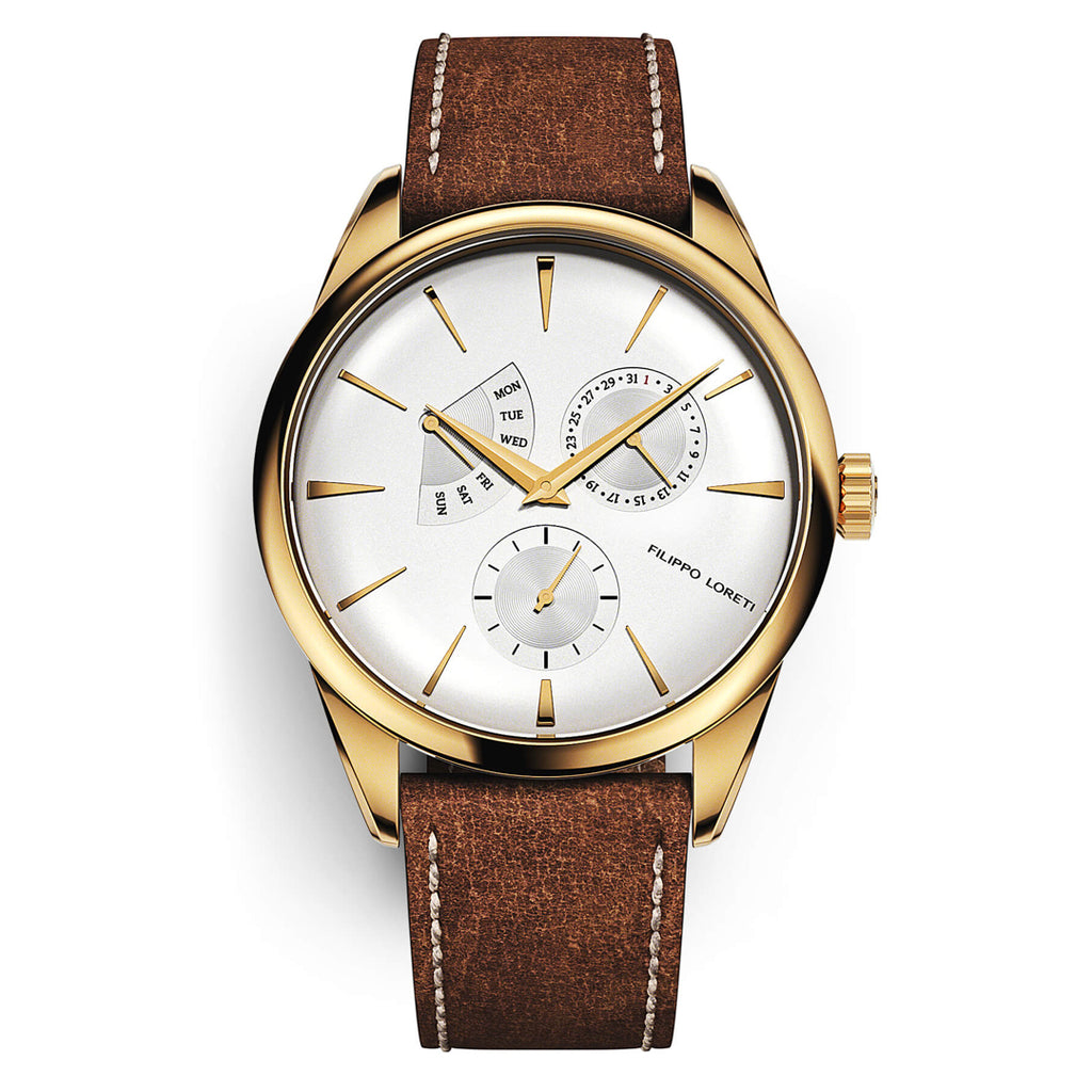 Genoa Calendar Gold Watch For Men Women Online