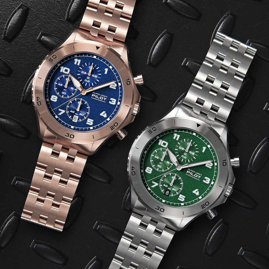 Pilot Metal Grating Watches