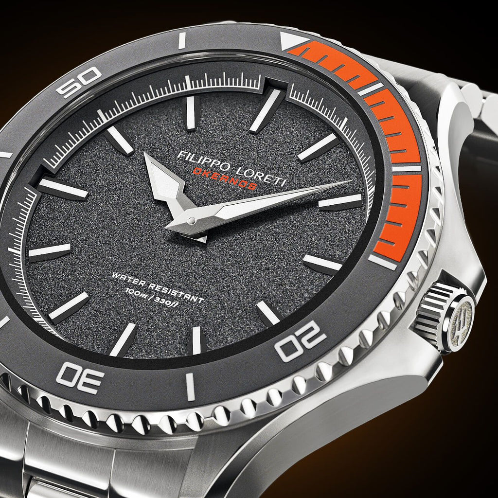 Okeanos Grey Steel Link Watch from Filippo Loreti