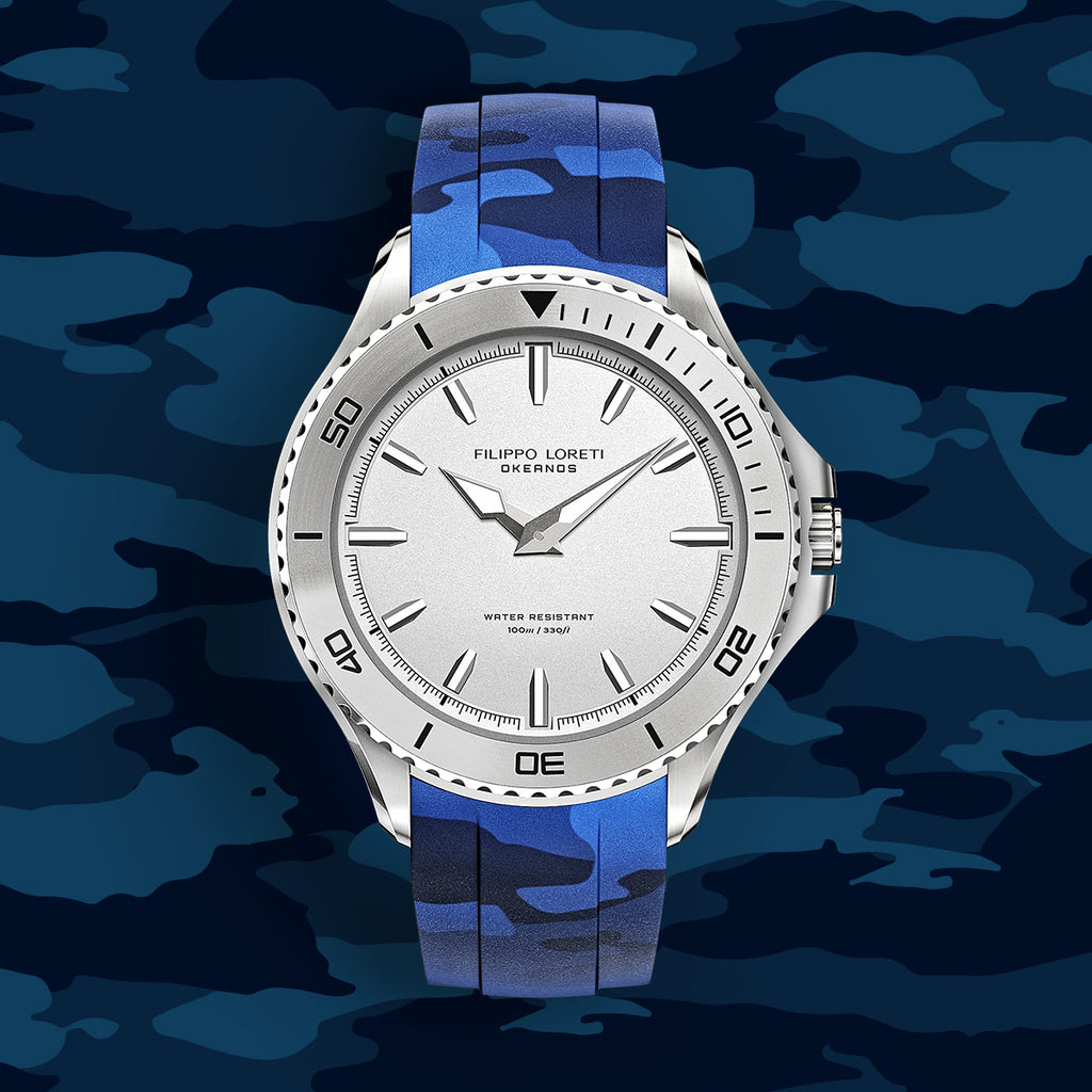Okeanos Silver Camo watch for men online