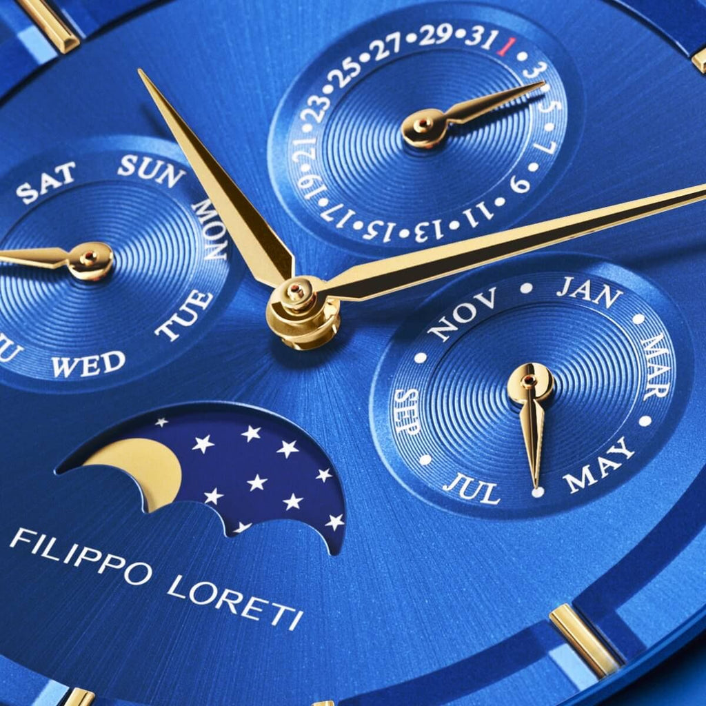 Filippo Loreti's Venice Moonphase Blue Gold Watch