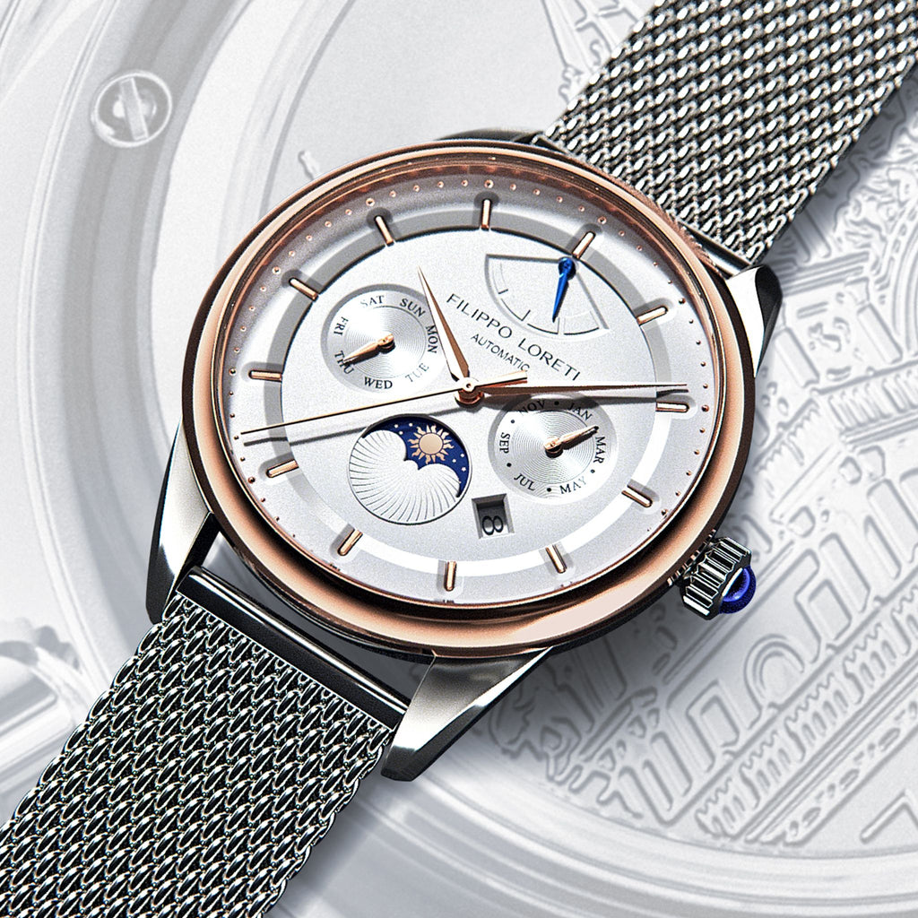 Venice Automatic Fusion Steel Mesh Watch from Filippo Loreti