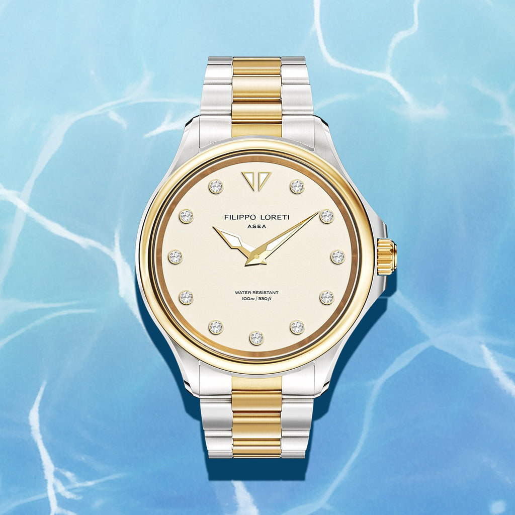 Asea Two Tone Cream Gold Ladies Watch from Filippo Loreti