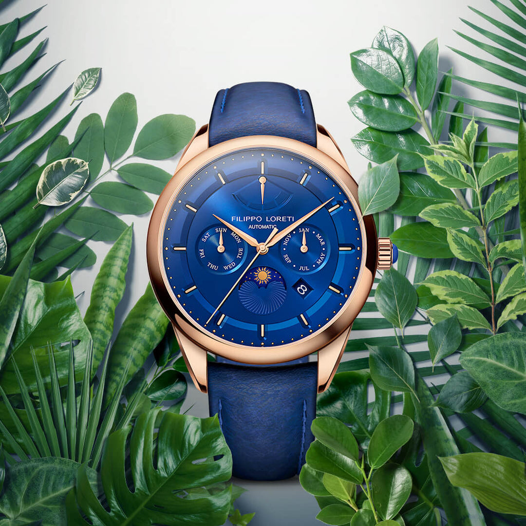 Venice Rose Gold Blue Automatic Watch For Men Online