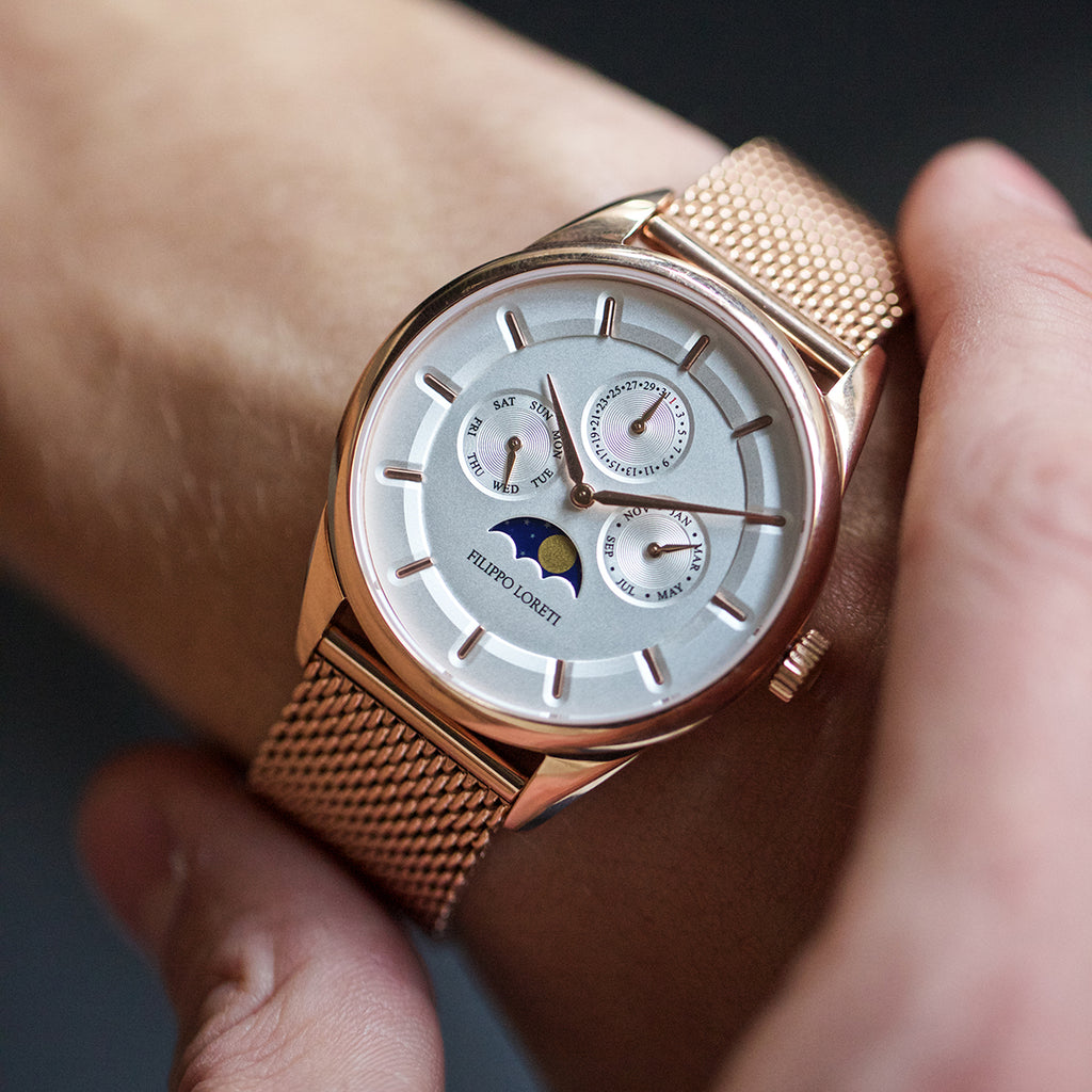 Vanice moonphase rose gold watch for men online