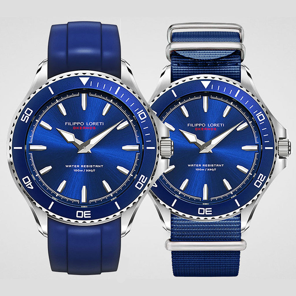Okeanos Steel Blue Nato Watch For Men Online