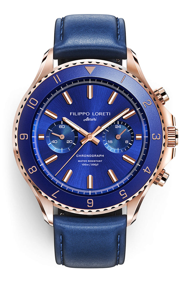 Ascari Rose Gold Blue