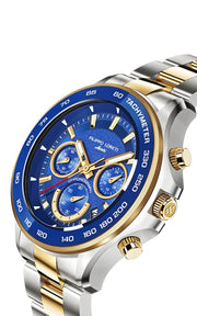 Ascari Monza Two Tone Blue Gold Steel
