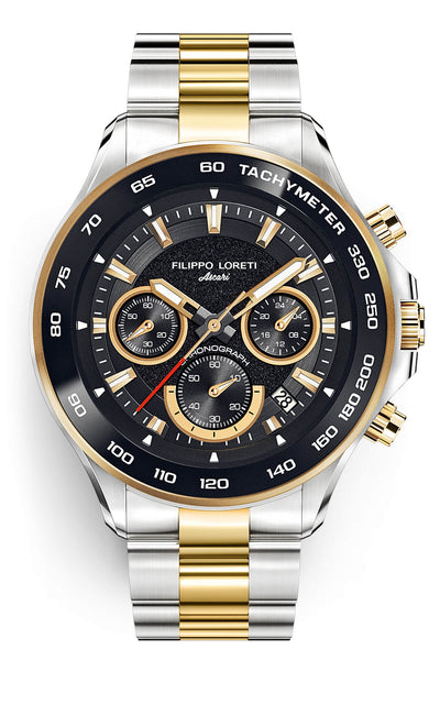 Ascari Monza Two Tone Black Gold Steel