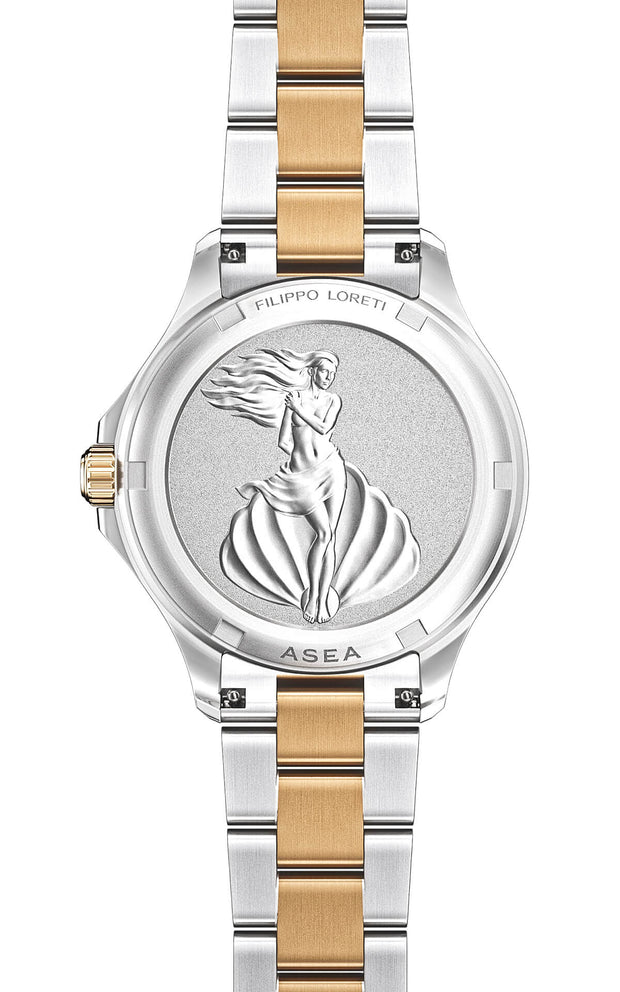 Asea Two Tone Cream Gold