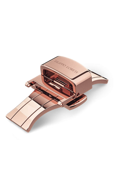 Rose Gold Plated Stainless Steel Butterfly Clasp