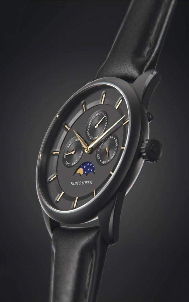 Venice Moonphase Black Gold