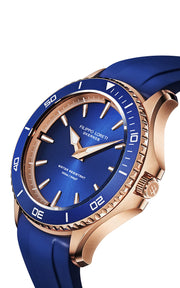 Okeanos Rose Gold Blue Rubber
