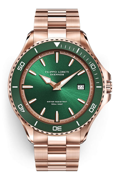 Okeanos Rose Gold Green Link 2020 Edition