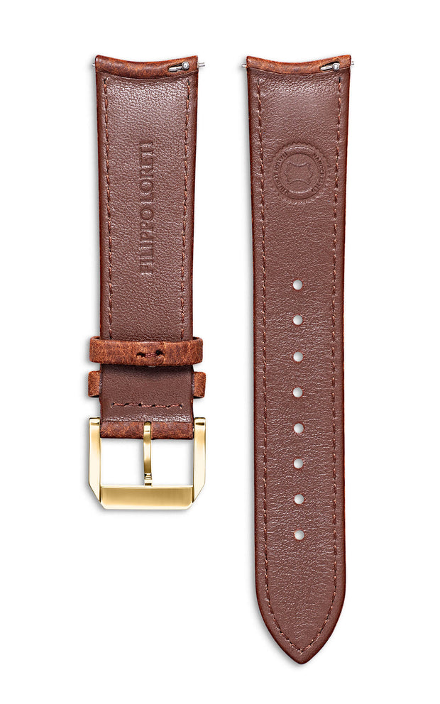 Brown Italian Leather Strap