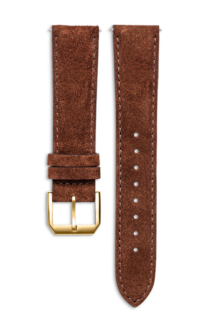 Chocolate Suede Italian Leather Strap