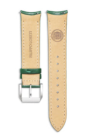 Green Italian Leather Strap