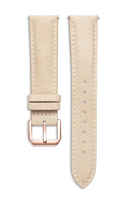 Light Suede Italian Leather Strap