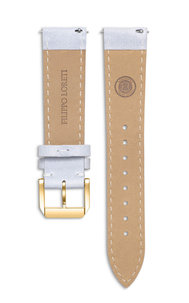 Light Grey Vintage Italian Leather Strap