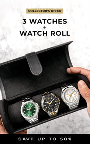 3 Watches + Watch Roll For Free