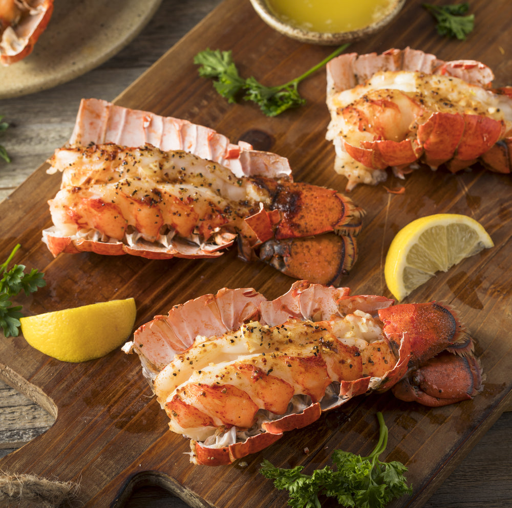 Grilled Lobster Tails with Olive Oil