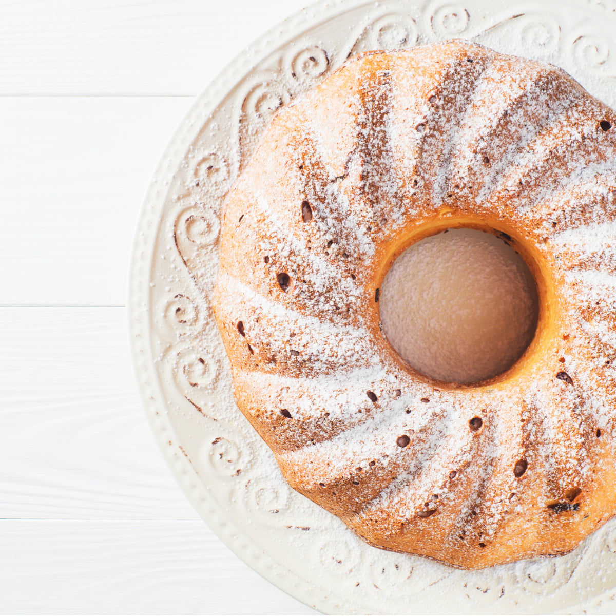 Cherry, Vanilla & Olive Oil Bundt Cake