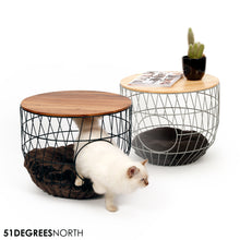Wire Cat Table Julia White incl Cushion