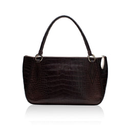 Queen Mary Brown Alligator Tote